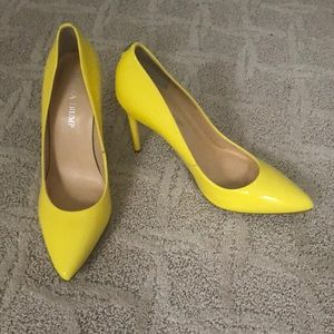 Ivanka Trump bright yellow Patent leather pumps